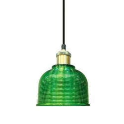 Lámpara Colgante CRISTAL Verde