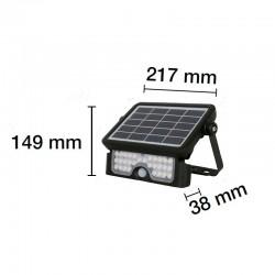 Foco Led Solar 5W IP65 Negro