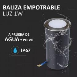 Baliza Led 1W Empotrable IP67