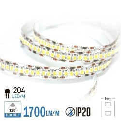 Tira Led 18W/m 204LEDs/m IP20