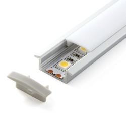 Perfil Aluminio 2m Empotrar