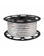 Tiras Flexibles Led a 230V.  Bobinas de 50m.